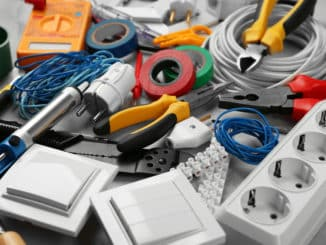 Werkzeuge eines Elektrikers