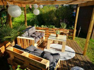 Palettenmöbel für die Terrasse